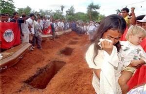 obsèques des sans terre au Brésil
